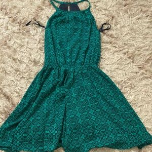 green and navy banana republic dress, size XXS